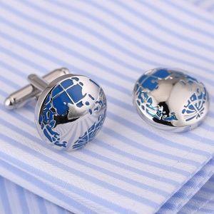 Stainless Steel Globe Cuff Links